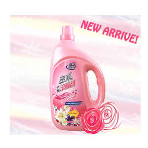 Washing Clothes Softener Detergent Laundry Liquid Cleaning Product Rose Bottle