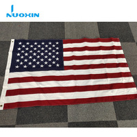 High Quality 3x5ft 100% Cotton American Flag With Embroidered Star