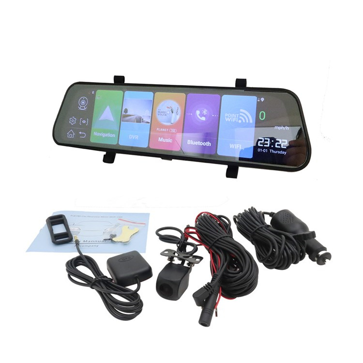 Android 8.1 3G ADAS car mirror dvr GPS navigator with car assistance
