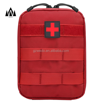 Tactical Molle Medical EMT Pouch IFAK Red First Aid Bag Only Military Utility Pouch Empty
