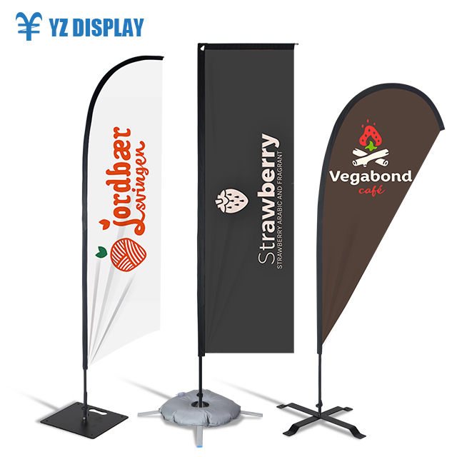2019 Yizhan Supply Factory Advertising Tear Drop Flying Custom Banner Beach <strong>Flag</strong>