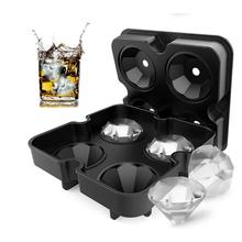 Ice Ball Maker Siliconen Ijs Mallen Maker Ice Cube Tray 4 Grote Keuken Bar Accessoires Cocktail Whisky Diamant Vorm