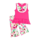 Lace Sleeveless Splicing Girls Summer Collection Set