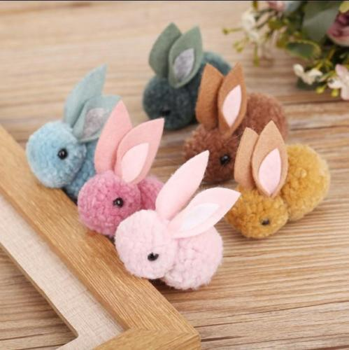 2019 new wool felt bunny <strong>rabbit</strong> for Christmas tree decoration