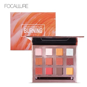 FOCALURE Best Cosmetics 12 Colors Waterproof Lasting Makeup Palette Eyeshadow Healthy Eye Make Up Set