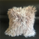 Square Tibetan Sheepskin sofa pillow and cushion