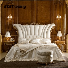 Italia Lusso Classico Colore Dorato Royal <span class=keywords><strong>Mobili</strong></span>, antico Elegante King size Bed room Furniture