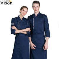 Hotel restaurant chef jacket cook coats waiter uniform custom chef uniforms