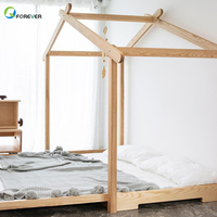 Popsicle Bed Nordic Wood Modern Minimalist Telescopic Crib House Bed Sheet Man And Girl