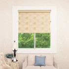 manual custom made cheap diy print jacquard fabrics shades window zebra roller blinds