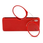 Nose Resting Reading Glasses Portable SOS Wallet Reader Clip On Mini Reading Glasses With Case