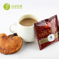 instant arabica coffee powder with ganoderma mushroom
