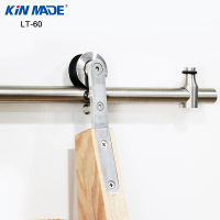 Kinmade Stainless Steel Round Tube Sliding Ladder Hardware Library Ladder Track Kit DIY White Oak Ladder
