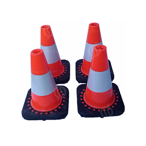 18Inch 45cm Reflective PVC Road Mark Cone with Reflectorized sleeve cone for roadway