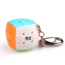 Qiyi <span class=keywords><strong>Cube</strong></span> Keychain 3x3 <span class=keywords><strong>Mini</strong></span> Tasche Würfel Schlüssel Ring Schlüsselring Puzzle Magic <span class=keywords><strong>Cube</strong></span> Zappeln Spielzeug 30mm EXW