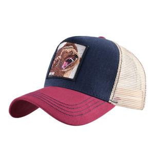 93aabc1d1 fashion design mesh back custom bear animal figure patch trucker cap