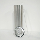 30 oz skinny tumbler stainless steel double wall insulated straight water cups wine tumbler with lids and straws