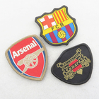 cheap manufacturer china sewing woven school badge emblem crest uniform clothing bag guangzhou badge