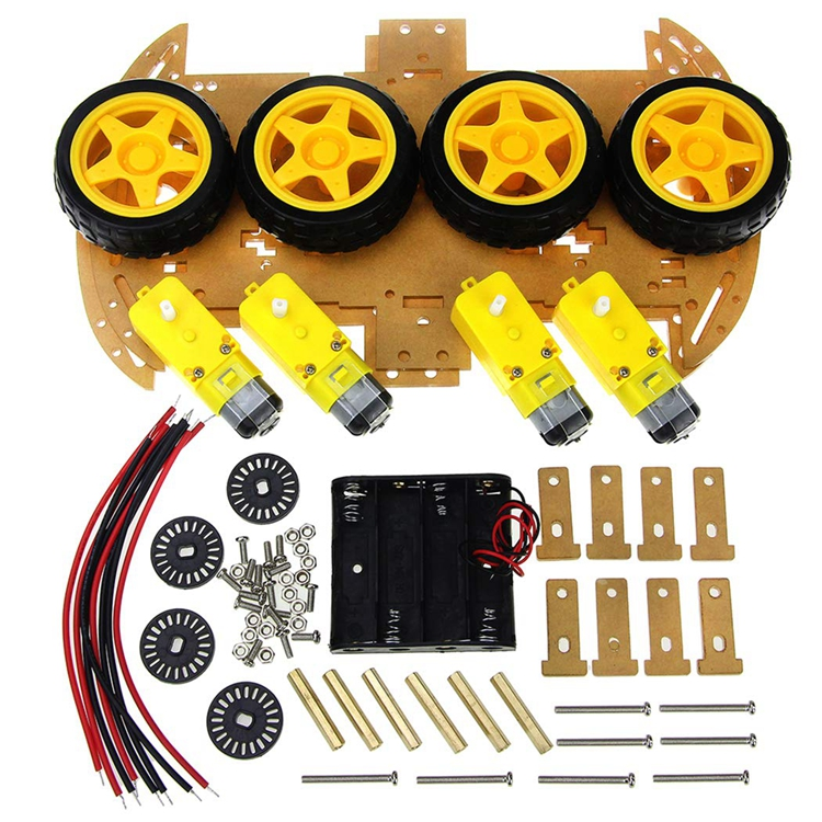 Smart Car Kit 4WD Intelligente Robot Car Chassis Kit con Speed Encoder per Arduino Kit FAI DA TE