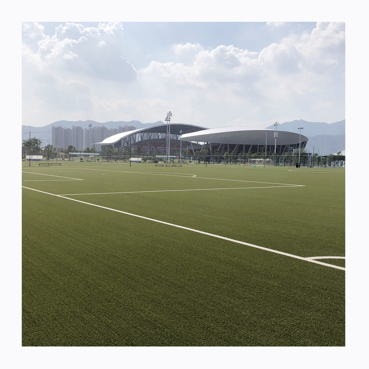 Sports turf for football field