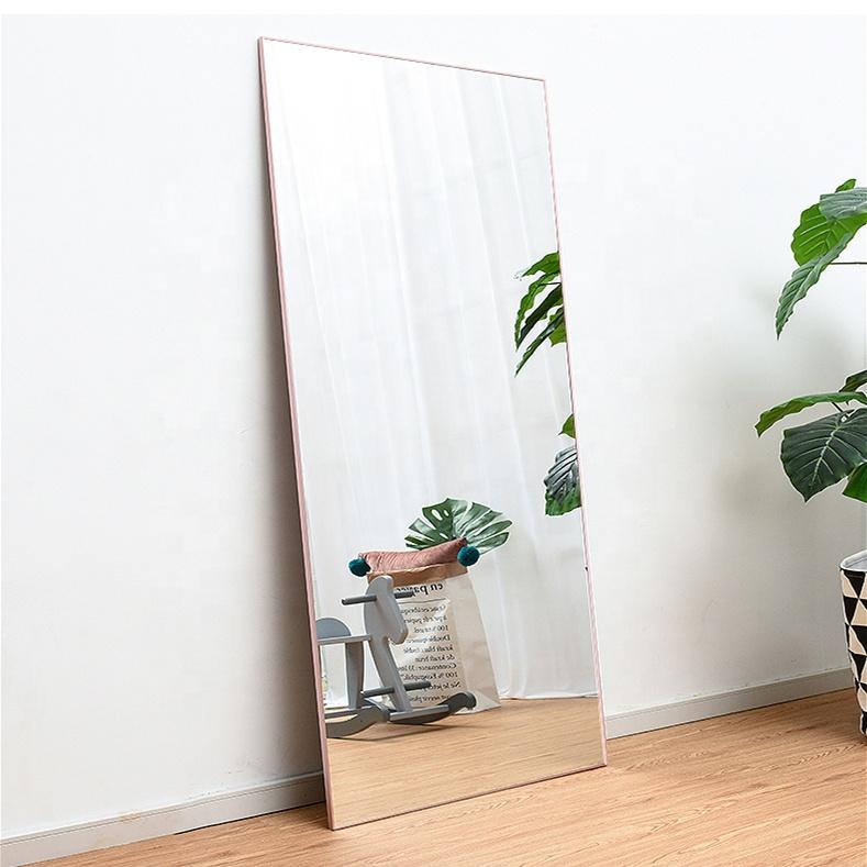 Aluminum Frame Mirror Frame Floor Standing Full Length Mirror Buy Aluminum Frame Mirror Standing Full Length Mirror Framed Floor Dressing Mirror Product On Alibaba Com
