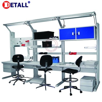 Detall Multi Functional Esd Work Bench With Shelf Of Lab