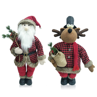 Best plush stuffed animal Santa Claus and Reindeer Outdoor Decoration