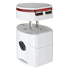 All in one universal travel power adapter with USB port plug