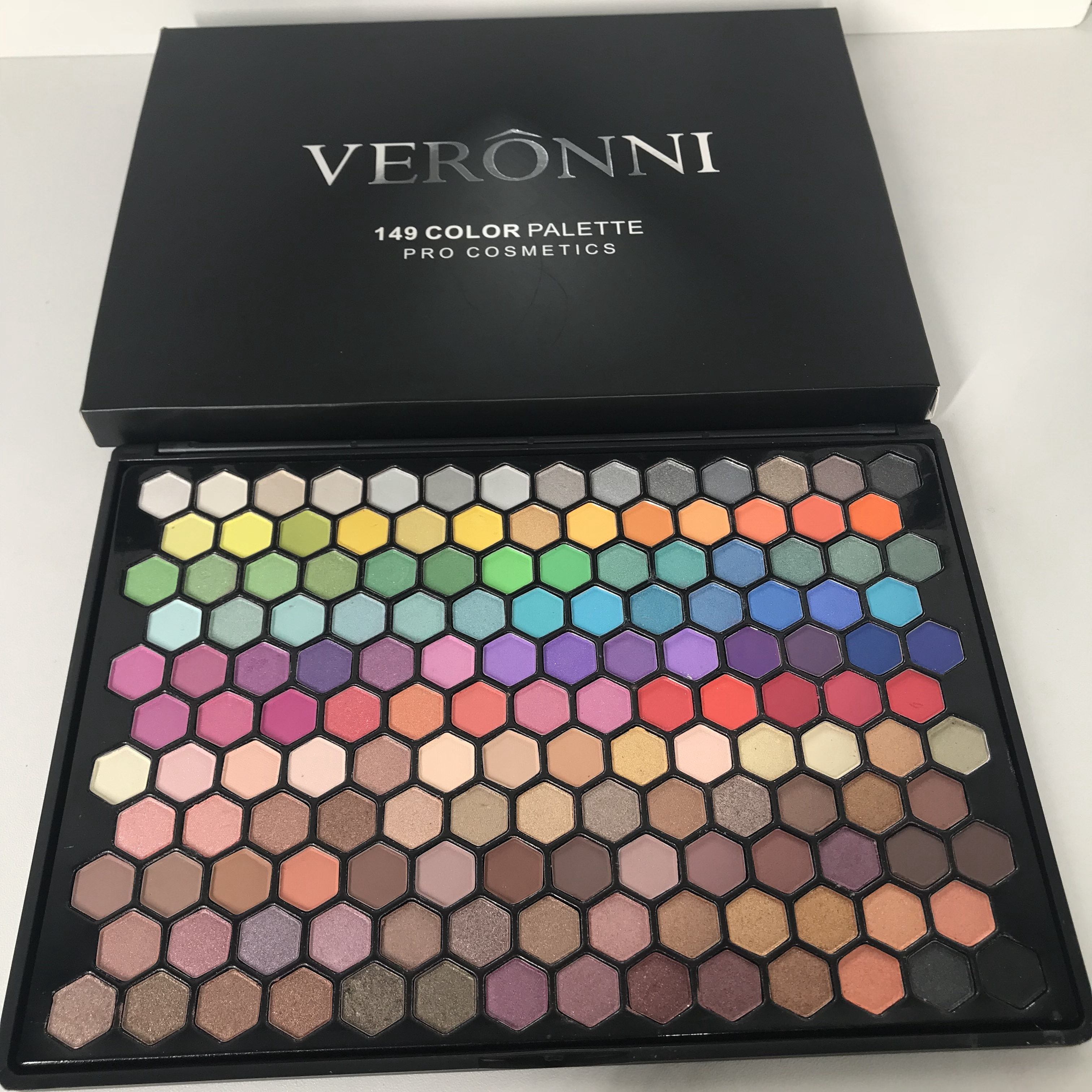 VERONNI 149 Color Shimmer Eyeshadow Kit Matte High Pigmented Eyeshadow Palette Eyes Palette Makeup Recommend Mekup <strong>Cosmetic</strong>