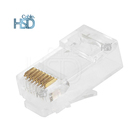 100 pcs/pack CAT6 RJ45 Ethernet Network Male Connector 8 pin Cat 6 Unshielded 8P8C Modular Plug Connectors Specification