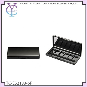 Empty Square Six Colors Eyeshadow Palette with Mirror