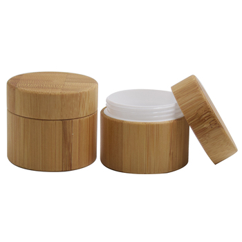 plastic jar with bamboo lid bamboo jar 30g 50g 100g bamboo lotion jar for face cream