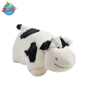 custom cow shaped pet plush pillow