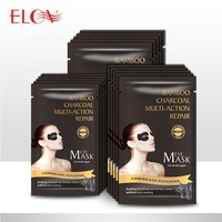 Restore eye elasticity relieve eye fatigue dilute dark circles 5 pairs of bamboo charcoal eye masks