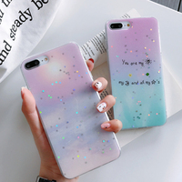 New products for iPhoneXSmax summer small fresh full soft protective cover XR transparent side 8plus mobile phone shell 6G