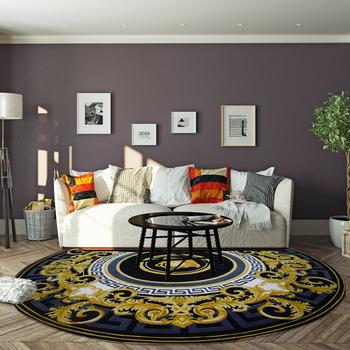 Splendid Luxury Custom Carpet Center Round Rug For Home Decor Hand Tufted New Zealand Wool Living Room High End Design