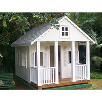 New design white prefab kids wooden play wood house
