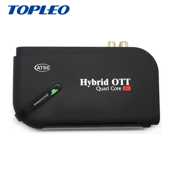 Wide varieties model Hybrid-H1 Amlogic S905D Quad Core RAM 1GB android dvb S2 ATSC T2 hybrid ott tv box