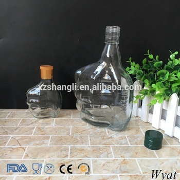 Cheap Empty 100ml 700ml Fist Glass Wine Bottles with Lids