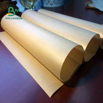 Food Grade Certificate Brown PE Coated Kraft Food Wrapper With Size Customized