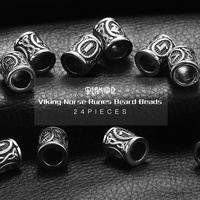 REAMOR Free Shipping Stainless Steel Jewelry Viking Norse Runes Beard Spacer Futhark Bead