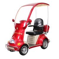 CE 48v/60v 500/650/800/1000w luxury 4 wheel disabled elderly use electric mobility scooter with roof popular in Asia and Europe