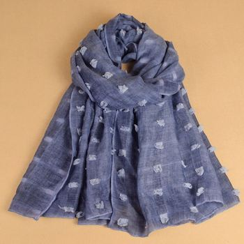 Good quality lady fashion hijab cotton scarves
