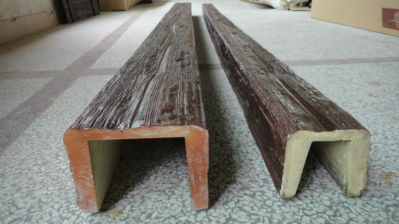2675 Pu Decorative Faux Wood Beams For Ceiling Decoration