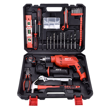 MPT 550w 13mm tool set 44pc impact drill kit