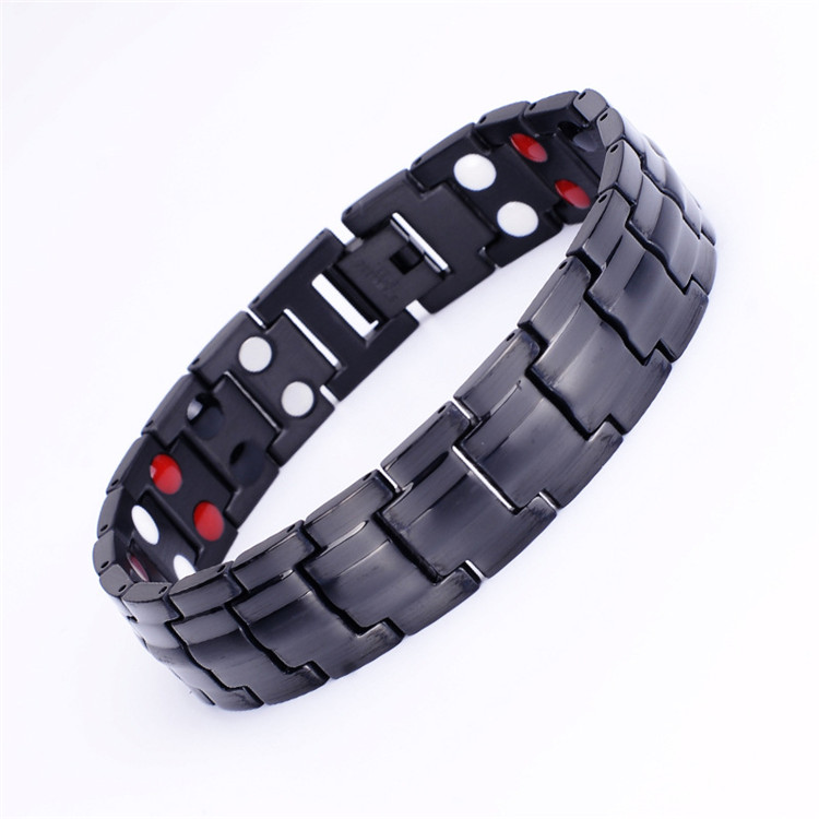 Factory Directly Bio Magnetic Stainless steel Therapy Bracelet for Pain Relief blood pressure control magnetic bracelet
