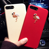 Applicable Embroidered Mobile Phone Case for iPhone7plus Flamingo Embroidered Mobile Phone Case