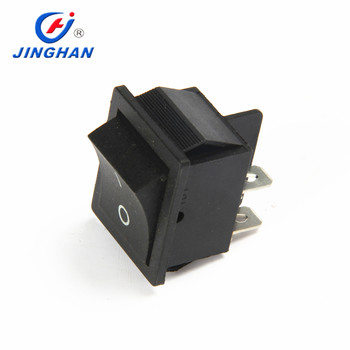 High Quality Wiring Diagram Black 4 Pin On-off 30*22mm Rocker Switch on