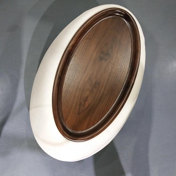 Beyaz Deri katı ahşap çay masası depolama fonksiyonu ile Fashional tasarım Büyük Yuvarlak Pirinç Monte Sehpa