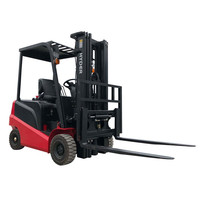 Hot sale four Wheels lifter electric 1.5ton 2ton 2.5 ton 3ton 4.5m 5m 6m forklift Battery electric forklift truck with AC motor
